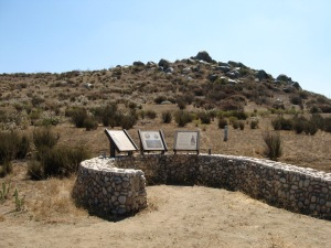 The real Mule Hill, with info kisosks telling the fascinating story