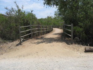 Trans County Trail wooden foot bridge over Penasquitos Creek