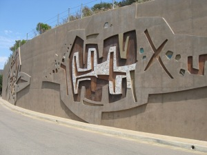 Kumeyaay-based Rock of Aegis decorated wall