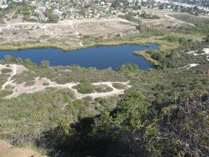 Lake Calavera from the peak