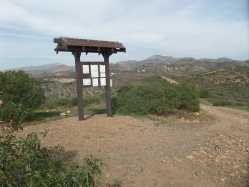 Kiosk on trail with scenic views of mountains (Iron, Woodson)