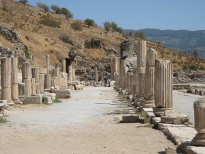 A visit to ancient Roman ruins at Ephesus, Turkey